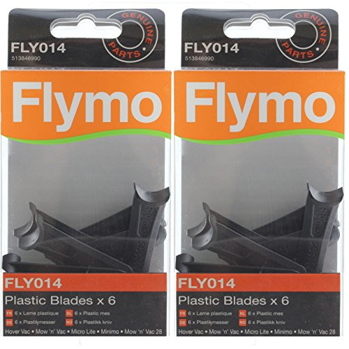 Flymo Genuine Hover Vac Lawnmower Blade Plastic Cutter (Pack of 12, FLY014) from Flymo