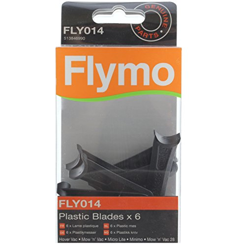 Flymo Genuine Mow 'n' Vac Lawnmower Blade Plastic Cutter (Pack of 6, FLY014) from Flymo