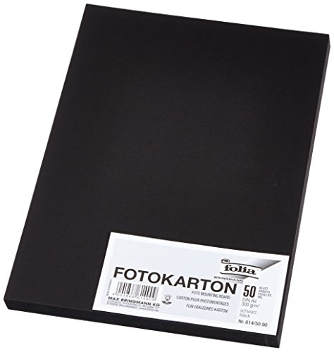 Folia 614/50 90 Photo Card 300 g/m² DIN A4 50 Sheets – Black from Folia