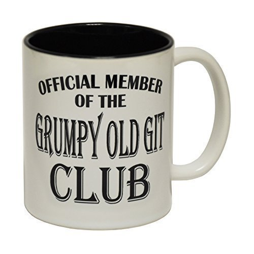 123t Mugs GRUMPY OLD GIT Ceramic Slogan Cup With Black Interior from 123t
