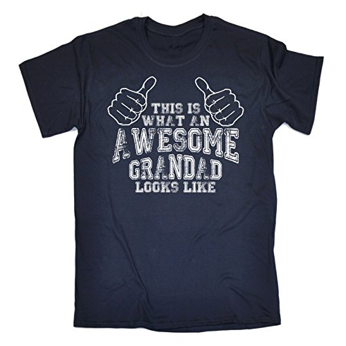AWESOME GRANDAD NAVY (M) from Fonfella Slogans