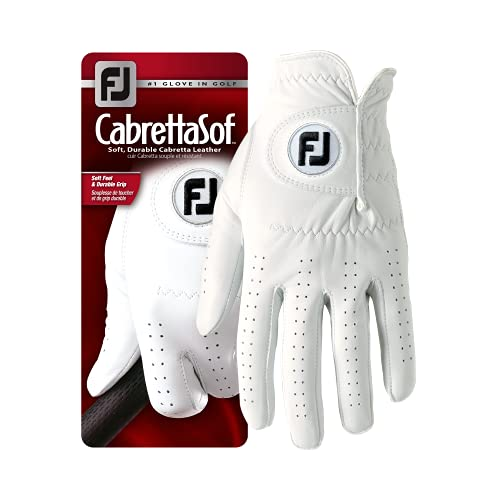 FootJoy CabrettaSof - Golf Gloves for Left Hand Color, White, Size XL from Footjoy
