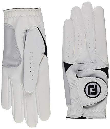 FootJoy Men's WeatherSof Golf Gloves, White, M - pack of 2 from Footjoy