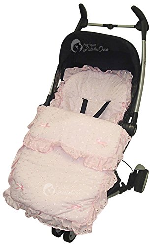 Broderie Anglaise Footmuff / Cosy Toes Compatible with Chicco Snappy Echo Pink from For-your-Little-One