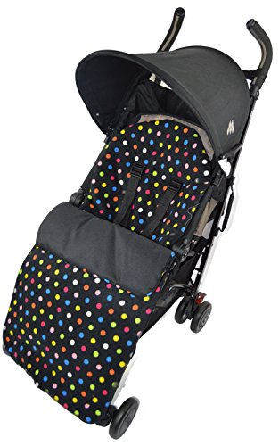 Fleece Footmuff/Cosy Toes Compatible with Buggy Pushchair Multi Colour Dots from For-your-Little-One