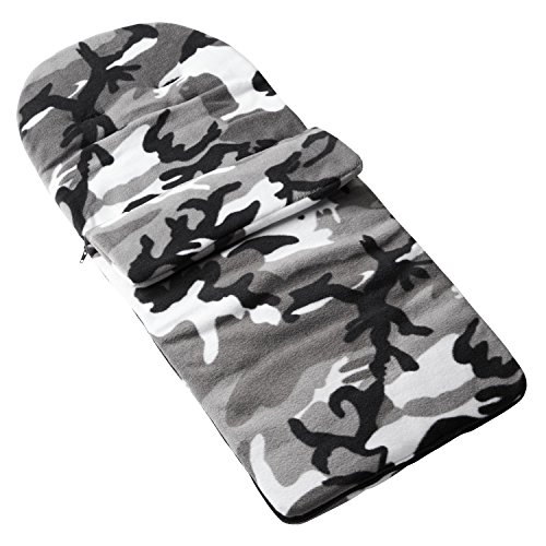 Fleece Footmuff Compatible with Silver Cross Pioneer - Grey Camouflage from For-your-Little-One
