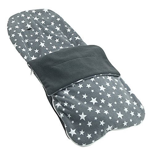 Snuggle Summer Footmuff Compatible With Babybus Trio Sport - Grey Star from For-your-Little-One
