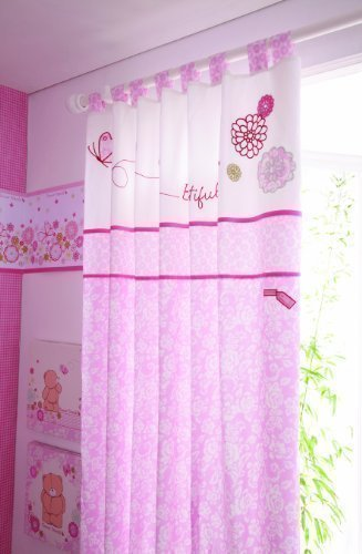 Forever Friends Tab Top Curtain Pair (Beautiful Pink) from Forever Friends