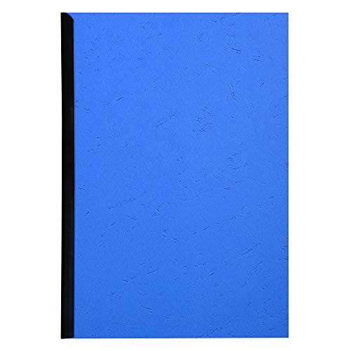 Exacompta Forever Recycled Rigid Presentation Covers, A4, Leather Grain Effect - Blue, Pack of 100 from Exacompta