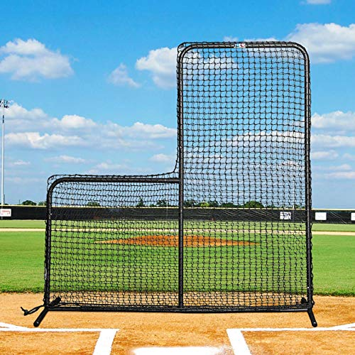 FORTRESS 7ft x 7ft Baseball L-Screen – Frame and Net – The very best available – [Net World Sports] from Fortress