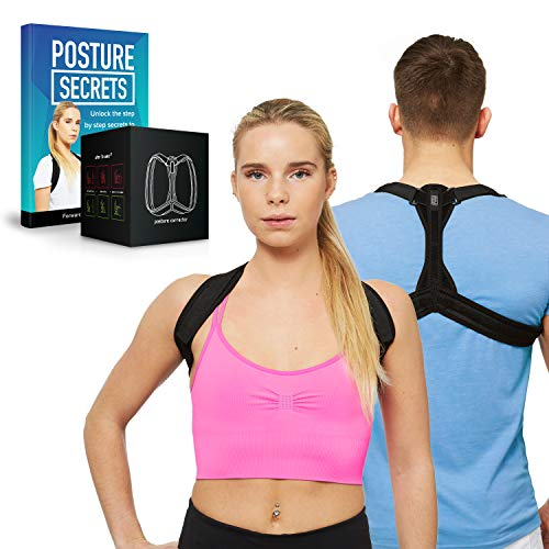 Posture Corrector for Women and Men - Posture Correction & Posture Support for Neck Shoulders and Back. High Quality Neoprene Posture Trainer/Posture Back Brace - Size (M) by FMI (Medium) from FMI