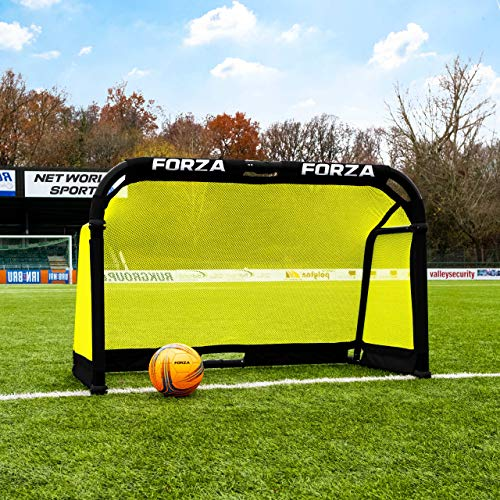 FORZA Aluminium Pod Folding Football Goal - Premium Target Football Goal (5ft x 3ft) from FORZA