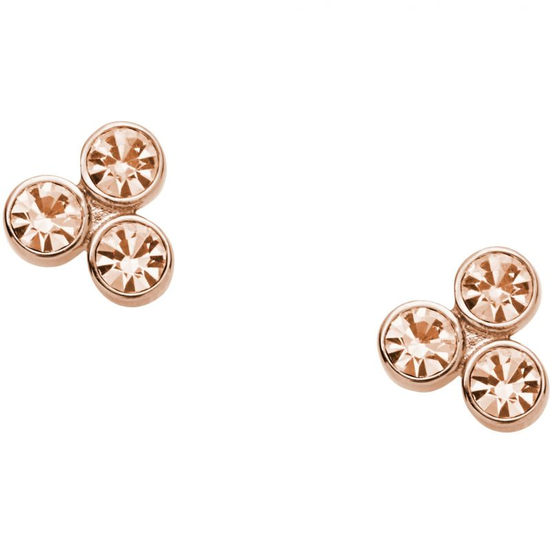 Ladies Fossil PVD rose plating GLITZ EARRINGS from Fossil Jewellery