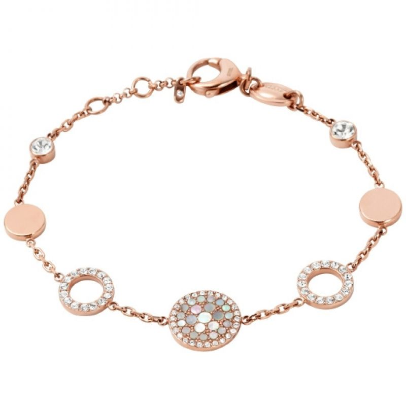 Ladies Fossil PVD rose plating Vintage Glitz Bracelet from Fossil Jewellery