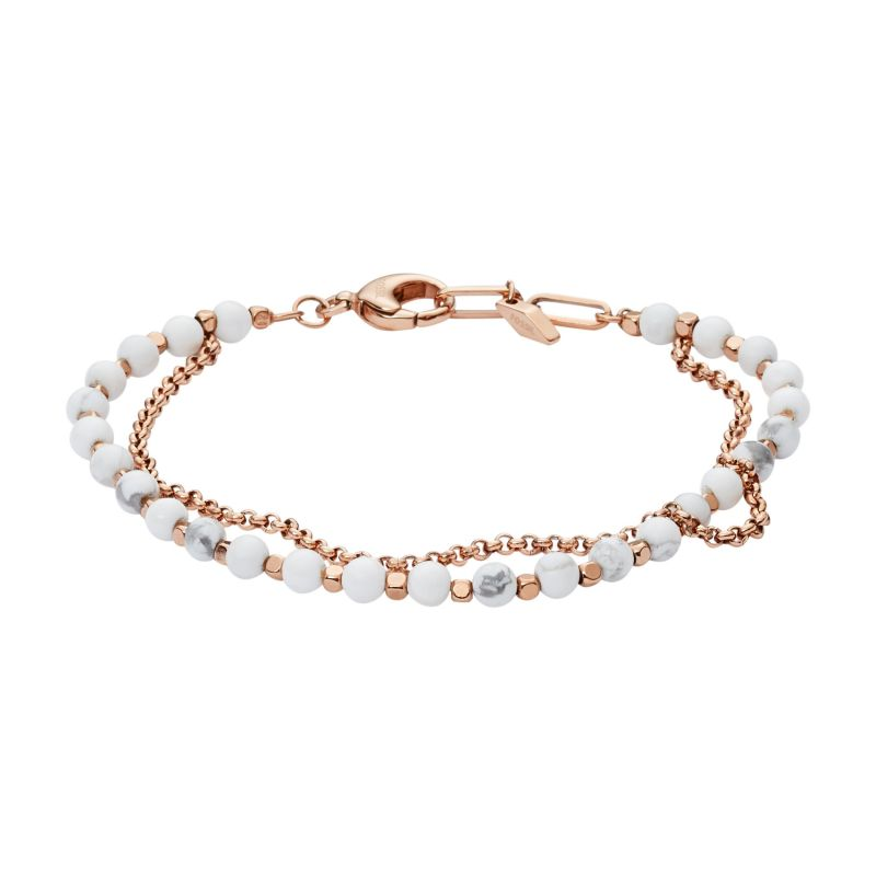 Ladies Fossil Rose Gold Plated Bracelet from Fossil Jewellery
