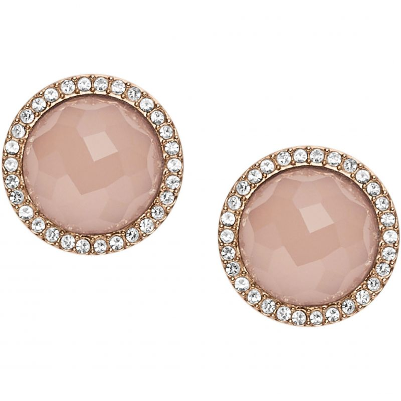 Ladies Fossil Rose Gold Plated Fashion Earrings from Fossil Jewellery