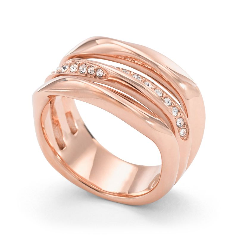 Ladies Fossil Rose Gold Plated Size P Ring JF01321791508 from Fossil Jewellery