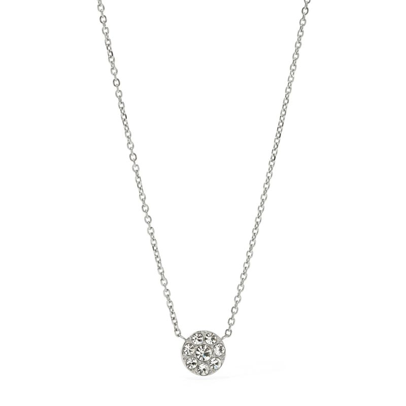 Ladies Fossil Silver Plated Vintage Glitz Necklace from Fossil Jewellery