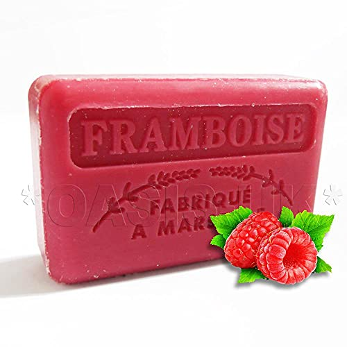 125g Savon De Marseille Soap - Raspberry (framboise) from Foufour