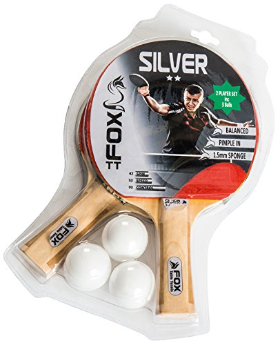 Fox TT Silver 2 Star Table Tennis Set - Red from Fox TT
