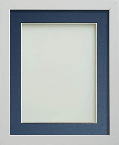 Frame Company Allington Range Picture Photo Frame with Blue Mount for Image Size 13 x 9 Inches - 16 x 12 Inches, White from Frame Company