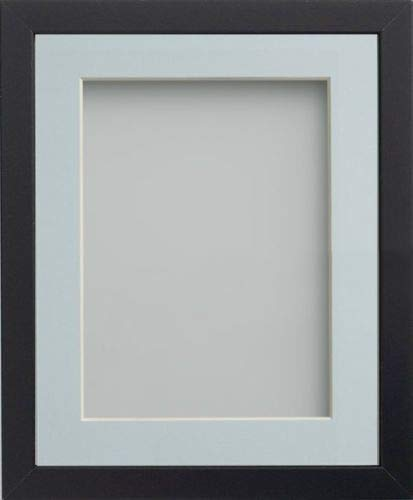 Frame Company Allington Range Picture Photo Frame with Light Blue Mount for Image Size A4 - 14 x 11 Inches, Black from Frame Company