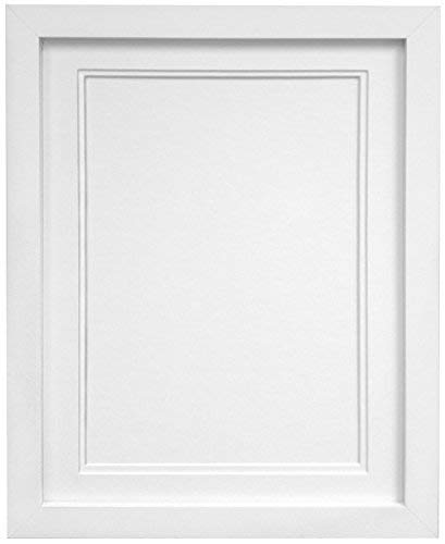 FRAMES BY POST H7 Picture Photo Frame, Wood, White with White Double Mount, 12 x 10 Image Size 10 x 8 Inch from FRAMES BY POST