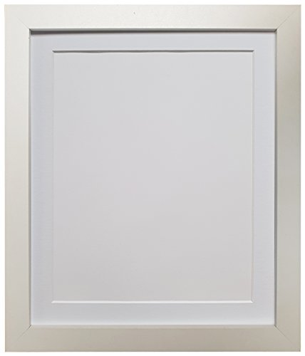 FRAMES BY POST 25mm wide H7 White Picture Photo Frame with White Mount 14 x 11 Picture Size 10 x 8 from FRAMES BY POST