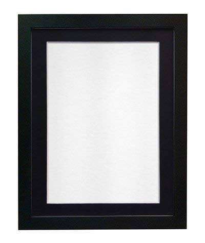 Frames by Post H7 Picture Photo Frame A4 Black with Black Mount for Image Size 10 x 6 Inches from Frames by Post