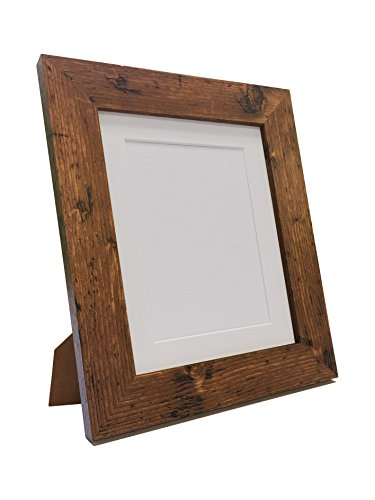 FRAMES BY POST Metro Vintage Wood Photo Picture Poster Frame with White Mount 40 x 40cm Image Size 30 x 30cm from FRAMES BY POST