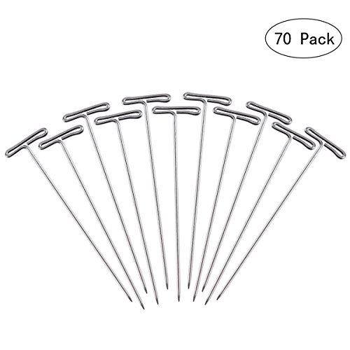 Frcolor 100pcs Wig T-Pins 53mm with Plastic Box for Blocking Knitting Modelling Crafts from FRCOLOR