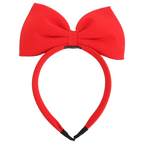 Frcolor Girls Bowknot Headbands Christmas Hair Hoops Big Bow Hair Band Party Headwear (Red) from FRCOLOR