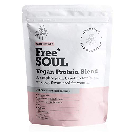 Free Soul Vegan Protein Powder | Formulated for Women | 600g | 20g Protein | Added Nutrients | Gluten & Soy Free Plant Based Nutrition Protein Shake | Pea and Hemp Isolate Protein (Chocolate) from Free Soul