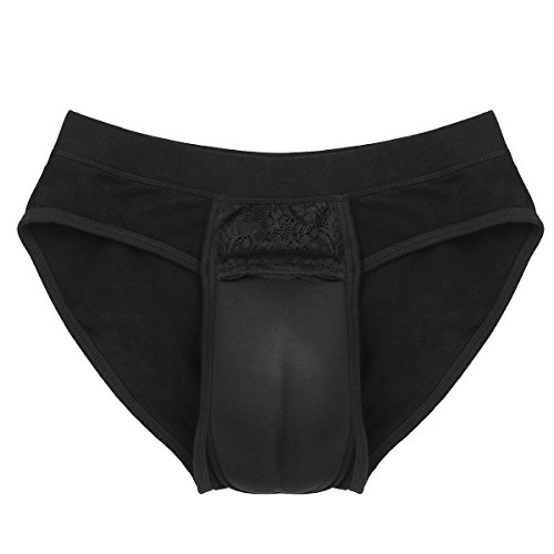 Freebily Men's Hiding Gaff Panty Shaping Briefs for Crossdresser Transgender Black Medium from Freebily