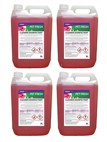 4 x 5 Lires Bubblegum Fragrance Pet Kennel Disinfectant And Deodoriser from FRESH 365