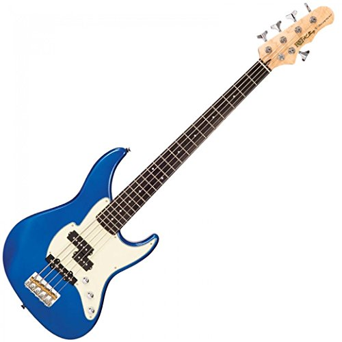 FRET-KING BLACK LABEL PERCEPTION 5-STRING BASS ~ CANDY APPLE BLUE from Fret King