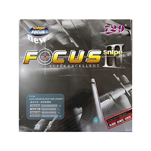 Friendship 729 Focus 3 Snipe Table Tennis Rubber (Black, 2.1mm) from Friendship 729
