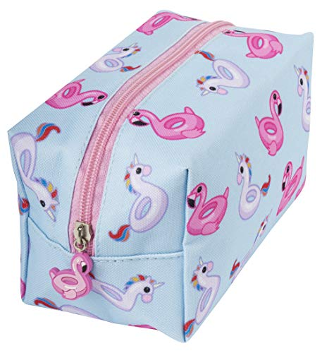 FRINGOO® Large Square Make Up Bag Cosmetics Pouch Travel Toiletry Bag Organiser Gift For Girls Funny Unicorn (Floaties) from Fringoo