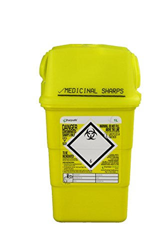 Frontier 41602430 Medical Sharps Disposal Bin/Box, 1 L from Frontier