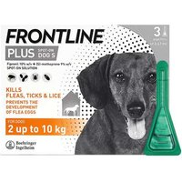 Frontline Plus Spot On For Dogs 2-10Kg 3 Pipettes from Frontline