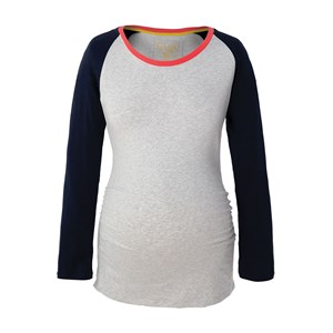 Frugi Grey and Navy Baseball Style T-Shirt S from Frugi