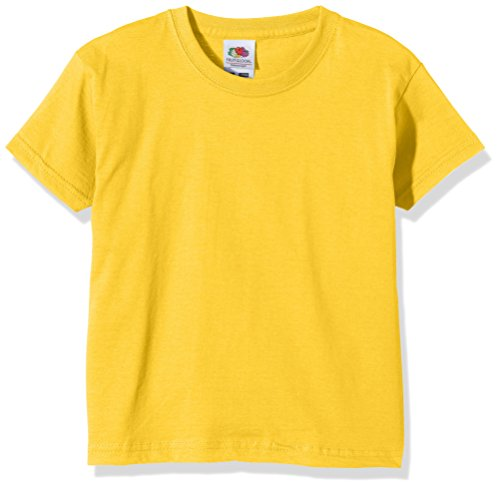 Fruit of the Loom Unisex Kids Valueweight Short Sleeve T-Shirt, Sunflower, 10-11 Years (Manufacturer Size:32) from Fruit of the Loom