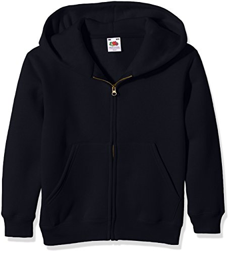Fruit Of The Loom Boy's SS107B Hoodie, Blue (Deep Navy), 14-15 Years (Manufacturer Size:36) from Fruit of the Loom