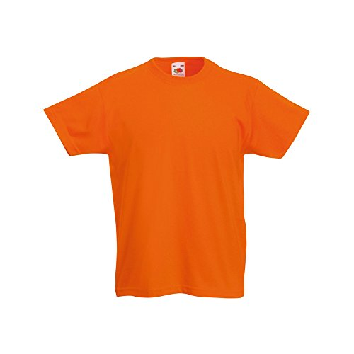Fruit of the Loom Childrens/Kids Original Short Sleeve T-Shirt (3-4 Years) (Orange) from Fruit of the Loom