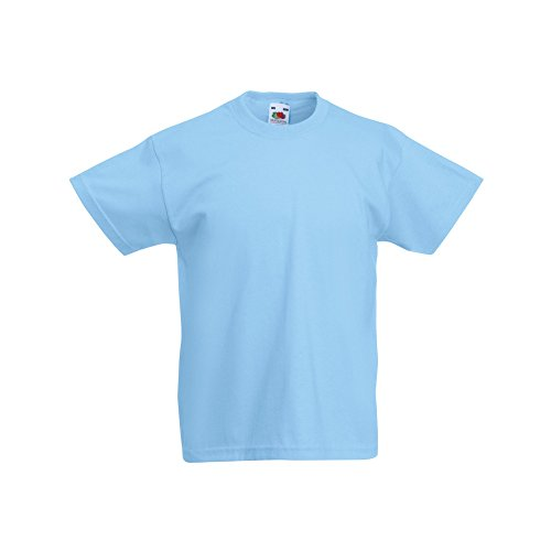 Fruit of the Loom Childrens/Kids Original Short Sleeve T-Shirt (9-11 Years) (Sky Blue) from Fruit of the Loom