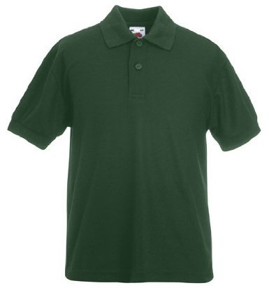 Fruit of the Loom Childrens/Kids Unisex 65/35 Pique Polo Shirt (5-6) (Bottle Green) from Fruit of the Loom