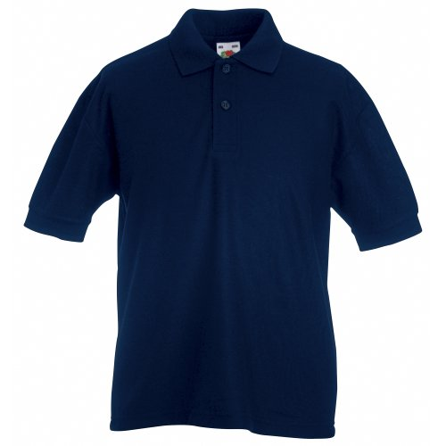 Fruit Of The Loom Childrens/Kids Unisex 65/35 Pique Polo Shirt (5-6) (Deep Navy) from Fruit of the Loom