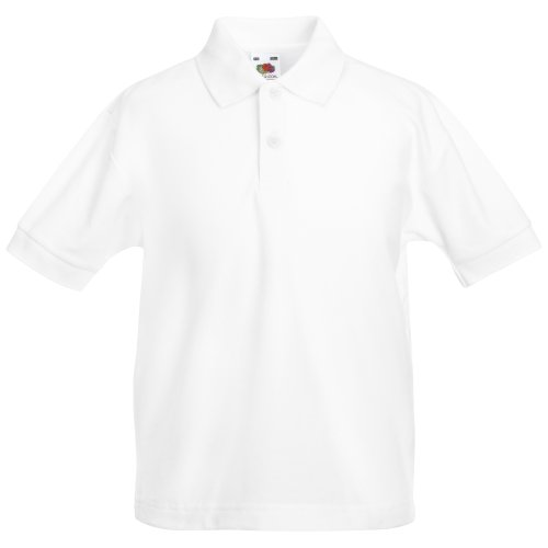 Fruit Of The Loom Childrens/Kids Unisex 65/35 Pique Polo Shirt (7-8) (White) from Fruit of the Loom