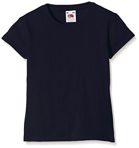 Fruit of the Loom Girls Valueweight T-Shirt, Deep Navy, 7-8 Years (Manufacturer Size:30) from Fruit of the Loom