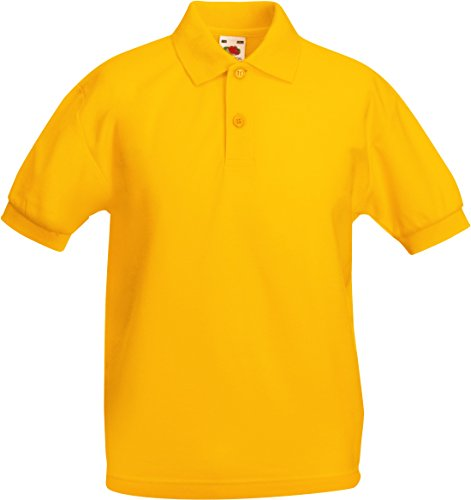 Fruit Of The Loom Kids Childrens 65/35 Pique Polo Shirt Sunflower 5-6 Years from Fruit of the Loom